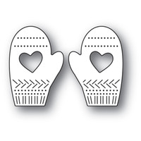 Memory Box Poppystamps Dies - Pinpoint Heart Mittens