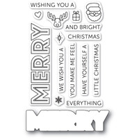 Memory Box Poppystamps Stamps and Die - Merry Everything