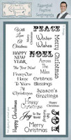 Creative Expressions, Sentimentally Yours Clear Stamps By Phill Martin - Essential Festive Sentiments
