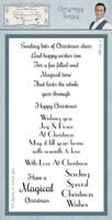 Creative Expressions, Sentimentally Yours Clear Stamps By Phill Martin - Christmas Verses