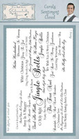 Creative Expressions, Sentimentally Yours Rubber Stamps By Phill Martin - Carols Sentiment Cloud