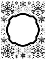 Creative Expressions Embossing Folder 5.75 x 7.5 inches - Eve's Snowflakes