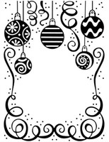Creative Expressions Embossing Folder 5.75 x 7.5 inches - Bauble Celebration