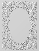 Creative Expressions Embossing Folder 3D 5.75 x 7.50 inches - Holly Swirls