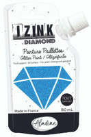 Aladine Izink Diamond Glitter Paint - Bleu Caraibe (Carribean Blue)