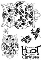 Woodware Clear Magic Singles - Christmas Owl