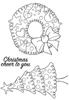 Woodware Clear Magic Singles - Dotty Wreath