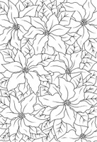 Woodware Clear Magic Singles - Poinsettia Lace
