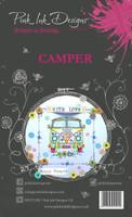 Pink Ink Designs A6 Clear Stamp Set - Camper