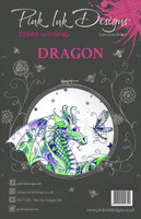 Pink Ink Designs A5 Clear Stamp Set - Dragon