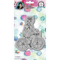 Studio Light Cling Stamps Chubby Chicks Art by Marlene - Bicycle