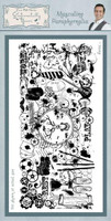 Creative Expressions Sentimentally Yours Rubber Stamps By Phill Martin - Masculine Parpahernalia
