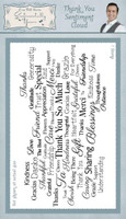 Creative Expressions Sentimentally Yours Rubber Stamps By Phill Martin - Thank You Sentiment Cloud