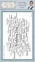 Creative Expressions Sentimentally Yours Rubber Stamps By Phill Martin - Wedding Sentiment Cloud