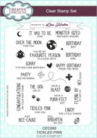 Creative Expressions Clear Stamps by Lisa Horton - Tickled Pink