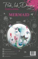 Pink Ink Designs A5 Clear Stamp Set - Mermaid