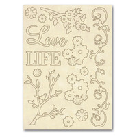 Stamperia Wooden Frames A5 Size - Love & Life