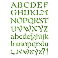 Stamperia Large Stencils - Alphabet 3