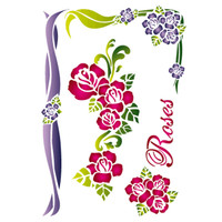 Stamperia Large Stencils - Roses