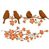 Stamperia Large Stencils - Birds On Tree