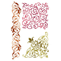 Stamperia Large Stencils - Lace Volutes And Corner