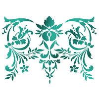 Stamperia Large Stencils - Flowers And Leaves Decor