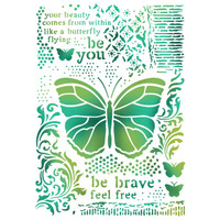 Stamperia Large Stencils - Butterflies