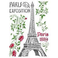 Stamperia Large Stencils - Paris Tour Eiffel