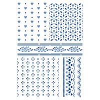 Stamperia Large Stencils - Texture Cloths