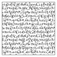 Stamperia High Definition Rubber Stamp - Italic Writing