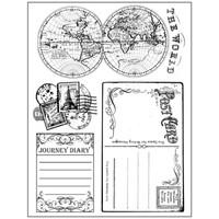 Stamperia High Definition Rubber Stamp - Around The World