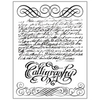 Stamperia High Definition Rubber Stamp - Calligraphy