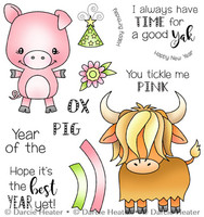 Darcie's Heart & Home Cling Stamp Set - Year of The Pig Ox