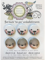Darcie's Heart & Home Tin Pins - Koo Koo K'Choo