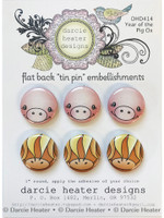 Darcie's Heart & Home Tin Pins - Year of The Pig Ox