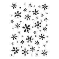 Darice 5 x 7 Embossing Folder - Snowflake Background