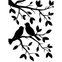 Darice A2 Embossing Folder - Birds In Branches