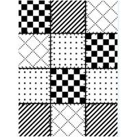 Darice A2 Embossing Folder - Quilt Blocks