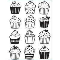 Darice A2 Embossing Folder - Cupcakes