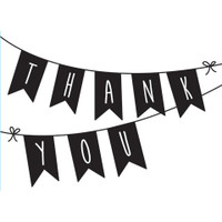 Darice A2 Embossing Folder - Thank You Banner