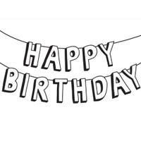 Darice A2 Embossing Folder - Happy Birthday Banner