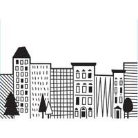 Darice A2 Embossing Folder - City Scene