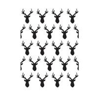 Darice A2 Embossing Folder - Deer Heads