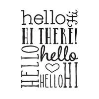 Darice A2 Embossing Folder - Hello Background