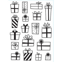 Darice A2 Embossing Folder - Presents