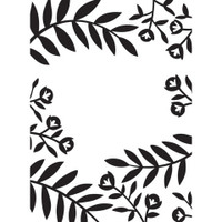 Darice A2 Embossing Folder - Flowers and Leaves