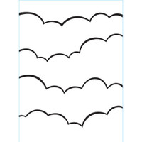 Darice A2 Embossing Folder - Clouds #2