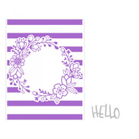 Sizzix Impresslits Embossing Folder by Lindsey Serata - Wildflower Frame