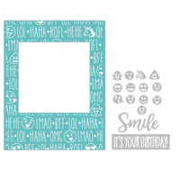 Sizzix Impresslits Embossing Folder by Lindsey Serata - Birthday Smiles