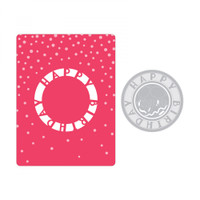 Sizzix Impresslits Embossing Folder by Courtney Chilson - Happy Birthday